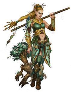 half-elf druid female - Google Search