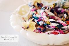 the pink couch: fabric friendship bracelets *tutorial*