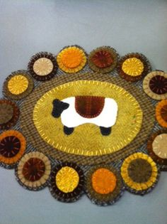 Sheep Penny Rug Wool Applique Kit and Pattern by punkinpatchcrafts, $25.00