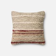 Brown And Red 18 Inch Decorative Pillow With Poly Insert Loloi Accent Pillows Throw Pillow