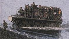 British troops landing craft