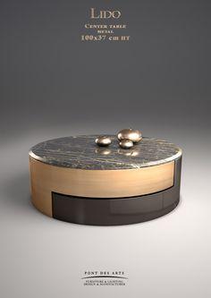 Lido center table - Designer Monzer Hammoud - Pont des Arts Studio - Paris Coffee Side Table