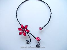 Wire flower necklace with nail polish     Gallery 2               view Gallery 1                                                           ...