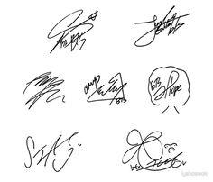 Bts Jimin, Bts Taehyung, Bts Bangtan Boy, Bts Signatures, Bts Name, Bts Tattoos, Bts Polaroid, Bts Backgrounds, Bts Book