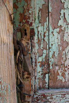 Old door in Greece