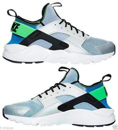 NIKE AIR HUARACHE RUN ULTRA MEN's M RUNNING ROYAL BLUE - GREEN - BLACK - WHITE