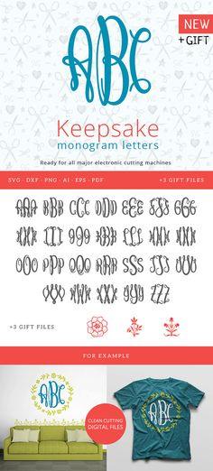 Flourish Monogram font svg, Ornate svg alphabet, swirls svg Monograms, Split Letter Fonts For Silhouette Studio, Cricut Explore machines
