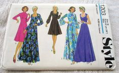 VINTAGE STYLE SEWING PATTERN 1203 Womens Evening DRESS ladies Sz 16 flared