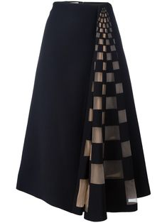 Fendi Tulle Check Insert Skirt - Fendi tulle check insert skirt The Effective Pictures We Offer You About outfits black A quality p - Vintage Style Dresses, Casual Dresses, Fashion Dresses, Ladies Dresses, Dress Vintage, Cheap Dresses, Checkered Skirt, Patterned Skirt, Fendi