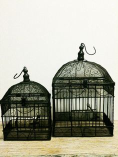 Vintage Bird CageWedding DecorDistressed by beachbabyblues on Etsy, $57.00