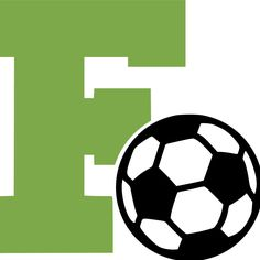 """Letter """"F"""" and Soccer Ball Wall Decal"""