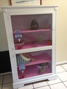 Rabbit hutch from a tv stand