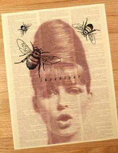 Beehive Vintage Dictionary Print   Wall decor   Room by SLAPGOODS
