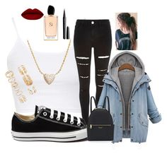 """""""Untitled #6"""" by robertipox on Polyvore featuring beauty, Topshop, Converse, Henri Bendel, Giorgio Armani, Marc Jacobs, Nadri and Forever 21"""