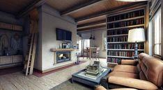 Русская печь в гостиной. Фото с сайта m.io.ua
