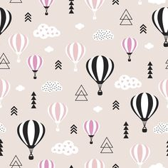 #hotairballoon #sky #clouds #print #spoonflower #patterndesign #surfacepattern #fabricdesign #fabric #illustration #wallpaper #kidsfashion #homedecor #littlesmilemakers