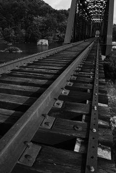 West Virginia train tracks bridge