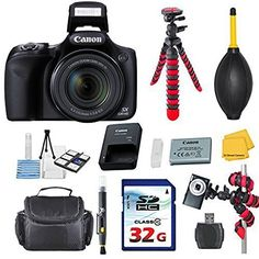 This 33rd Street Exclusive Camera Bundle Includes: Canon Powershot SX530 HS 16.0 MP Digital Camera with 50x Optical Zoom and 1080p Full HD Video Commander 32GB High Speed Memory Card, High Speed Memory Card Reader, Commander 2 in 1 Lens Cleaning Pen Commander Dust Blower, Deluxe Camera Case, Commander Starter Kit 33rd Street Cleaning Cloth