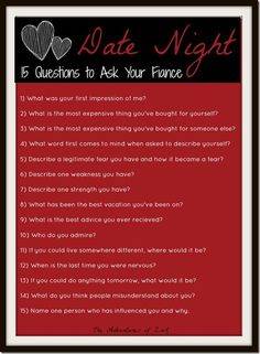Date Nigh- 15 Questions to Ask Your Fiance (Husband Help)