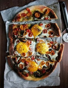 Heirloom Tomatoes And Egg Tart