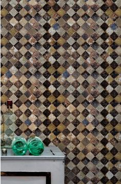 A collection of wonderful contemporary wallpaper the Solera Chess Wallaper would make a wonderful choice of decor The distressed mosaic design Funky Wallpaper, Scenic Wallpaper, Shabby Chic Wallpaper, Rustic Wallpaper, Unique Wallpaper, Contemporary Wallpaper, Wallpaper Decor, Pattern Wallpaper, Industrial Design