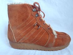 I had these same boots in elementary school!!  vintage 1970 copper brown rust suede by livingwithrepurpose, $22.00