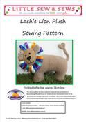 Lachie Lion Plush Sewing Pattern PDF - raising money for the Spinal Muscular Atrophy Association of Australia