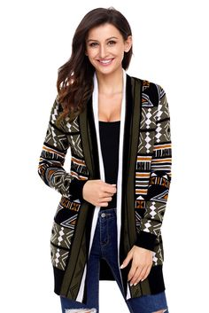 Now Available on chicloth.com: Chicloth Army Gre.... Check it out here:  http://chicloth.com/products/chicloth-army-green-aztec-print-cardigan?utm_campaign=social_autopilot&utm_source=pin&utm_medium=pin
