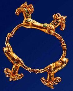 "Gold Bracelet, Scythian ""animal style"", 1st century BC."