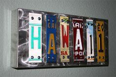 HAWAII License Plate Art by Jon Grauman