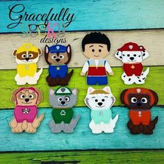 Puppy Finger Puppet Embroidery Design - 4x4 Hoop or Larger