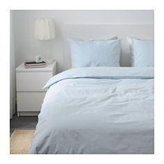 Ängslilja Duvet Cover And Pillowcase S Light Blue Full Ikea
