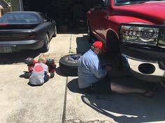 Doing what daddy does.