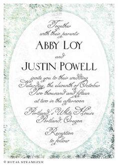 invitaciones de boda vintage para comprar online Royal Steamline