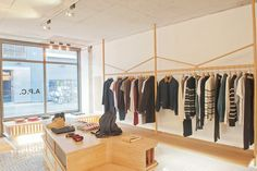 WOODEN STORE INTERIORS! A.P.C. store, London store design:
