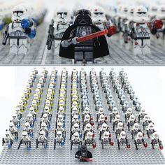 NOUVEAU 21 pcs/lot STAR WARS Clone Trooper Commandant et Darth Vader Mini jouets figure compatible legoes 75021 building block jouets