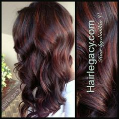 Pretty dark brown and red