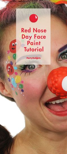 A Funny Red Nose Day Face Paint Tutorial From The Talented Ashlea Henson Make Your