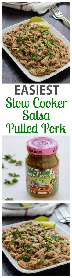 The EASIEST Salsa Slow Cooker Pulled Pork