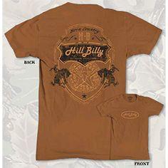 HillBilly Brand: Men's Dark Orange Riders T-Shirt - $16.95