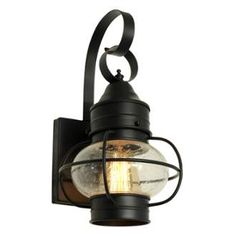 "View the Miseno MLIT20325J1 Nautical 14"" Tall Single-Light Outdoor Wall Sconce with Seeded Onion Shade at LightingDirect.com."