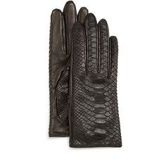 Guanti Python/Napa Leather Gloves ($245) ❤ liked on Polyvore featuring accessories, gloves, nappa leather gloves, navy gloves, knuckle gloves and navy blue gloves