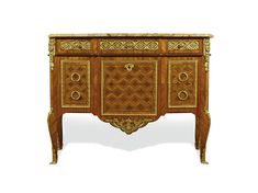 c1770 A gilt-bronze-mounted tulipwood, amaranth, parquetry and marquetry commode stamped J. Dautriche JME, Louis XV/XVI Transitional, circa 1770 Estimate   20,000 — 30,000  GBP 30,474 - 45,711USD LOT SOLD. 35,000 GBP (53,330 USD) (Hammer Price with Buyer's Premium)