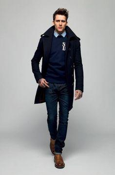 navy tailored jacket