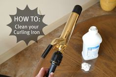 how to clean your curling iron - mine might have a little build up on it :)