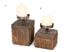 Large Reclaimed Timber & Metal Square Candle Holder WEDDING DECORATIONS FOR HIRE AUSTRALIA WIDE (www.bwdecor.com.au) #weddingdecorations