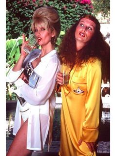 Joanna Lumley as Patsy Stone and Jennifer Saunders as Edina Monsoon in Absolutely Fabulous, 1992 - 1996 Jennifer Saunders, Patsy And Eddie, Edina Monsoon, Aliens, Patsy Stone, Joanna Lumley, British Comedy, British Sitcoms, Ab Fab