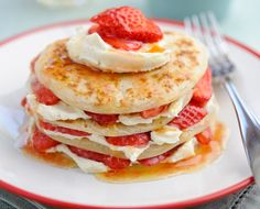Strawberry's and pancakes