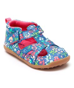 Carter's Baby Girl  Blue Floral Stage 3 Clio Leather Sandal Size:4,4.5, 5, 5.5,6 #Carters #Booties