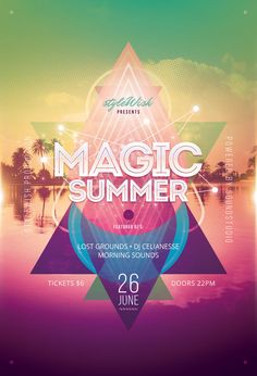 Magic Summer Flyer by styleWish (PSD template on Graphicriver)